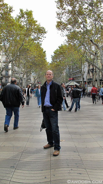 DG on the Las Ramblas.