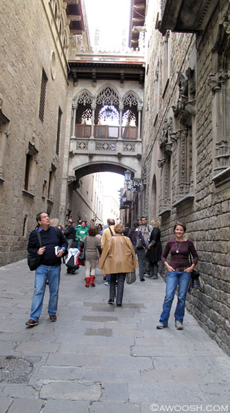 JG in Medieval Streets of Barcelona.