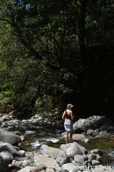 Cooling off at one of the numerous rivers in Costa Rica