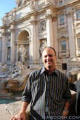 Mr G at the Trevi Fountain
