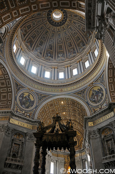 Beautiful dome at St Peter's Basilica